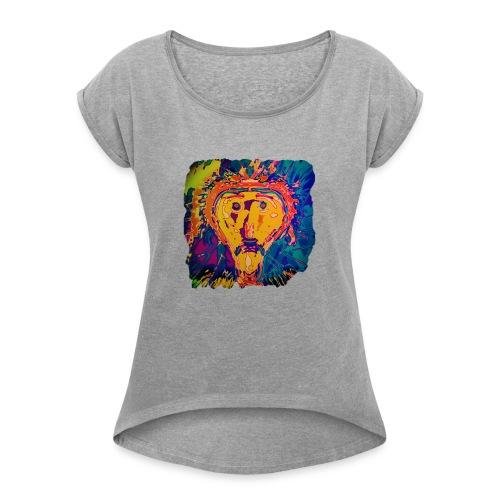 Selfi - Frauen T-Shirt mit gerollten Ärmeln
