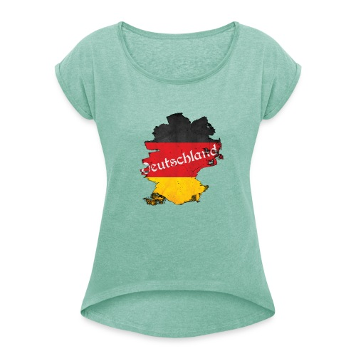 Deutschland - Women's T-Shirt with rolled up sleeves