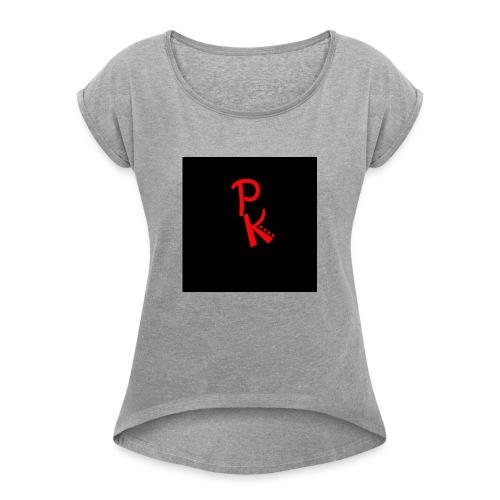 Tekengebied 1 - Vrouwen T-shirt met opgerolde mouwen