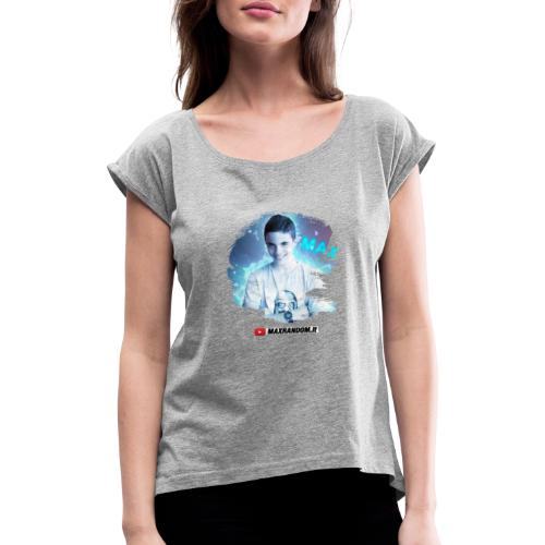 Max Random - Maglietta da donna con risvolti