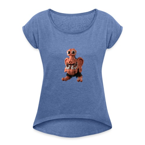 Very positive monster - Women's T-Shirt with rolled up sleeves