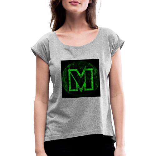 Merch - Vrouwen T-shirt met opgerolde mouwen