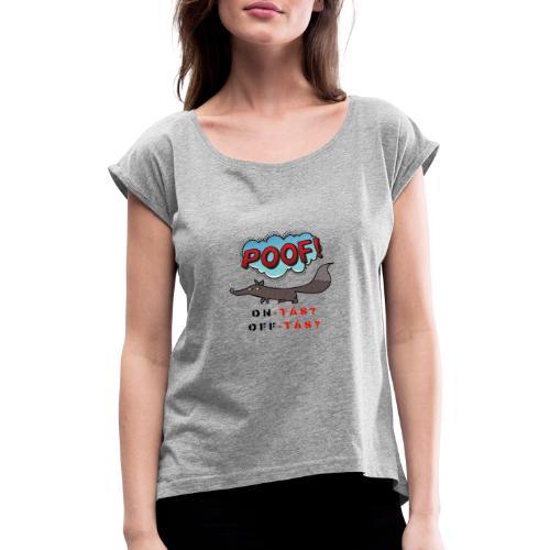 on tas - Camiseta con manga enrollada mujer