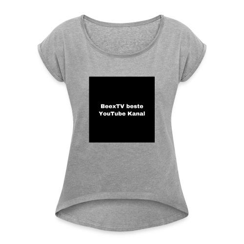 Premium - Frauen T-Shirt mit gerollten Ärmeln