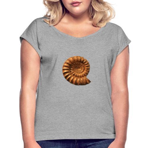 Ammonite Slat - Frauen T-Shirt mit gerollten Ärmeln