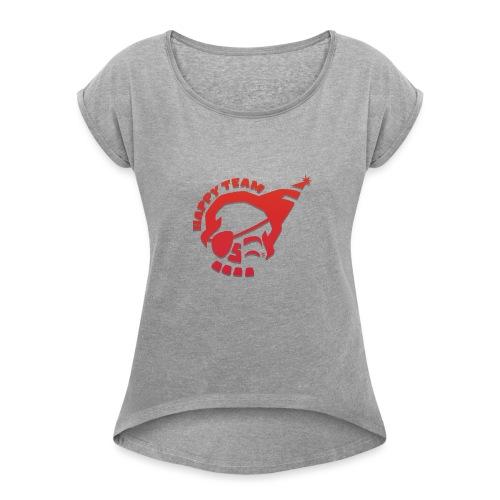 Happy team logo 2 orange - T-shirt à manches retroussées Femme