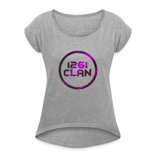 Pink and Black Logo - Women's T-Shirt with rolled up sleeves