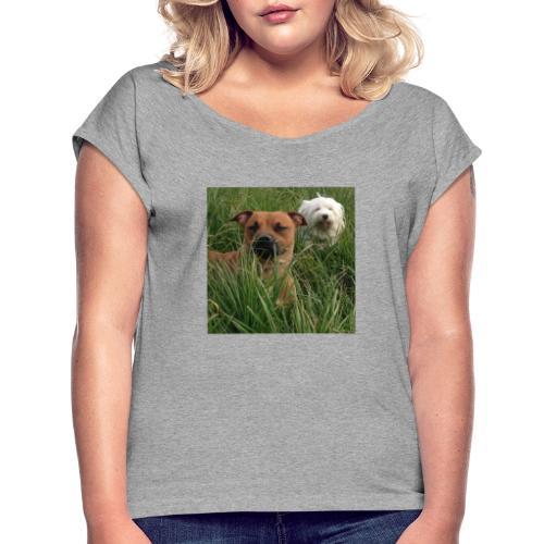 15965945 10154023153891879 8302290575382704701 n - Vrouwen T-shirt met opgerolde mouwen