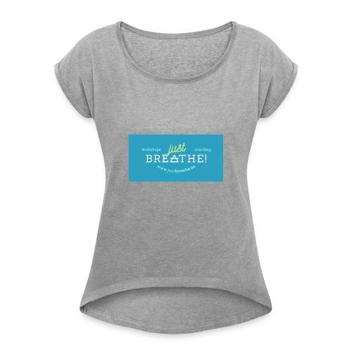 JB tekst - Vrouwen T-shirt met opgerolde mouwen