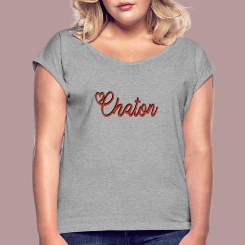 Chaton - T-shirt à manches retroussées Femme
