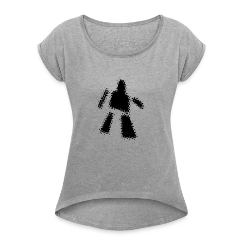ROBOT - Women's T-Shirt with rolled up sleeves
