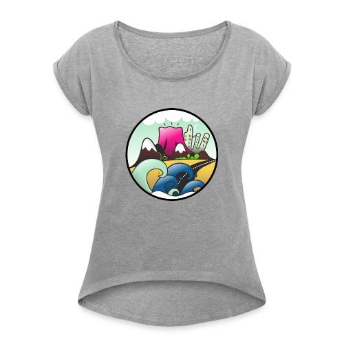 VOLCAN - Maglietta da donna con risvolti