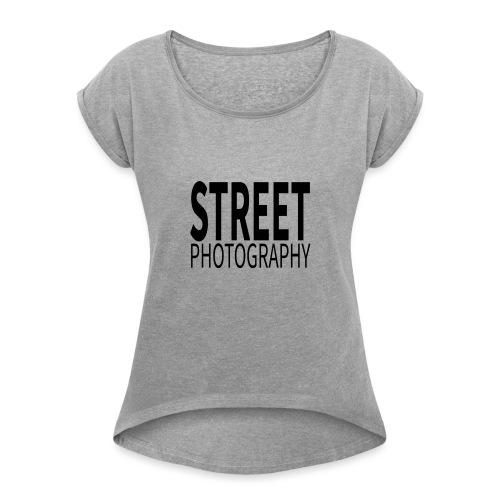 Street photography Black - Maglietta da donna con risvolti