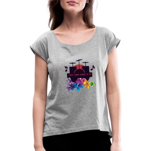 logo11 18 20141 - T-shirt à manches retroussées Femme