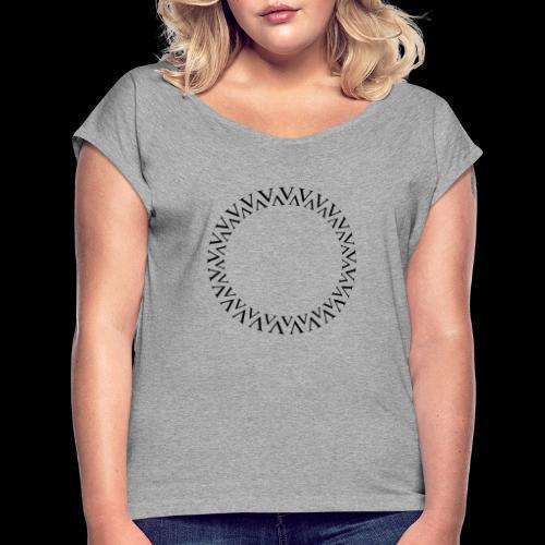 Kreis - Frauen T-Shirt mit gerollten Ärmeln