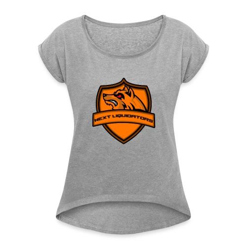Next Liquidators iphone wallpaper png - Vrouwen T-shirt met opgerolde mouwen