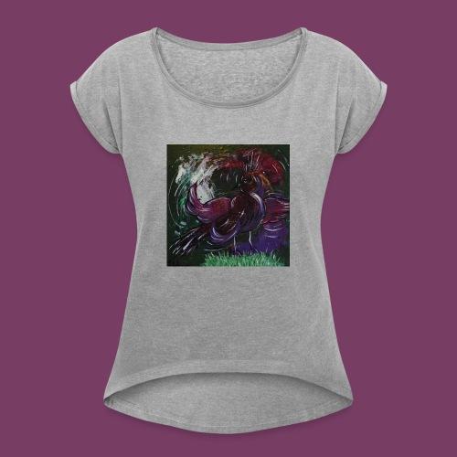 Fantasifugl - Dame T-shirt med rulleærmer