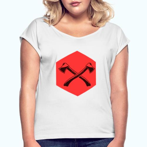 Hipster ax - Women's T-Shirt with rolled up sleeves