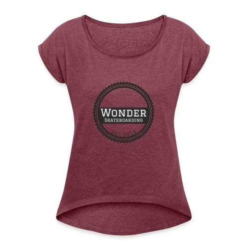 Wonder Longsleeve - round logo - Dame T-shirt med rulleærmer