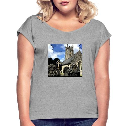 Church - Women's T-Shirt with rolled up sleeves
