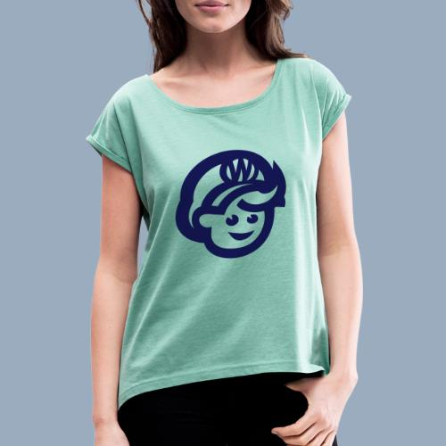 logo bb spreadshirt bb kopfonly - Women's T-Shirt with rolled up sleeves