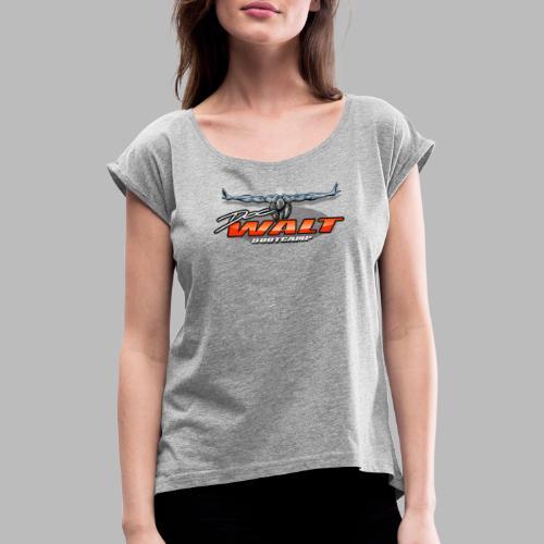 DocWalt / DoubleBrand (2fach-Logo Variante) - Frauen T-Shirt mit gerollten Ärmeln