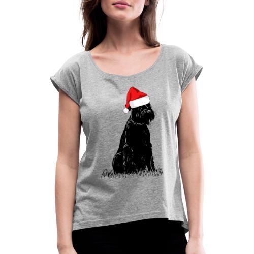 Riesenschnauzer Weihnachten Schnauzer Hund - Frauen T-Shirt mit gerollten Ärmeln