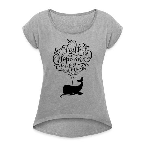design wal - Frauen T-Shirt mit gerollten Ärmeln