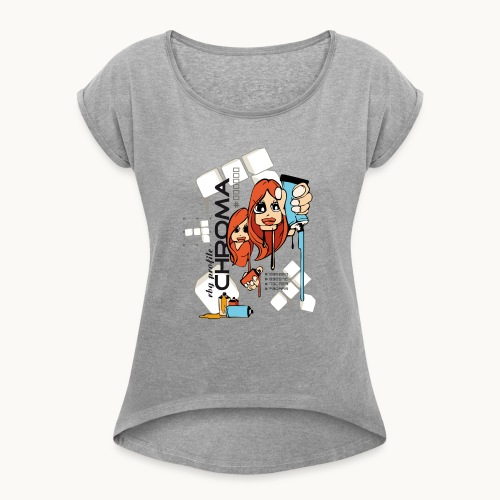 Chroma - T-shirt à manches retroussées Femme