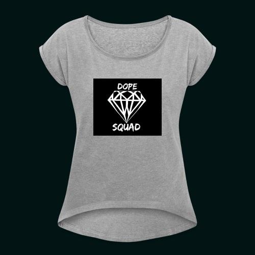 Dope Squad dames zwart - Vrouwen T-shirt met opgerolde mouwen