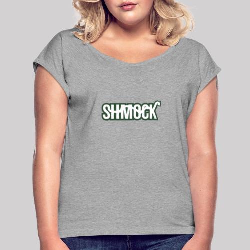 SHMOCK - T-shirt med upprullade ärmar dam