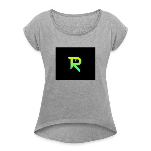 reesk - Frauen T-Shirt mit gerollten Ärmeln