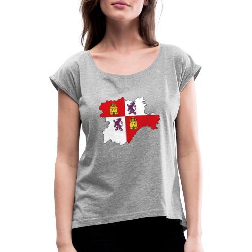 Logo Castellano leonés - Camiseta con manga enrollada mujer