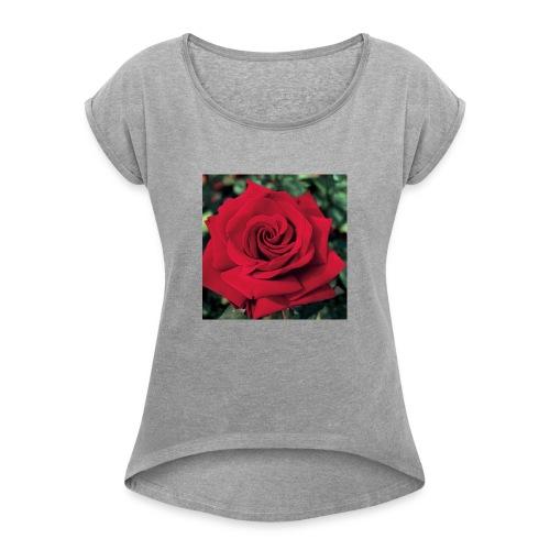 love shirt - Dame T-shirt med rulleærmer