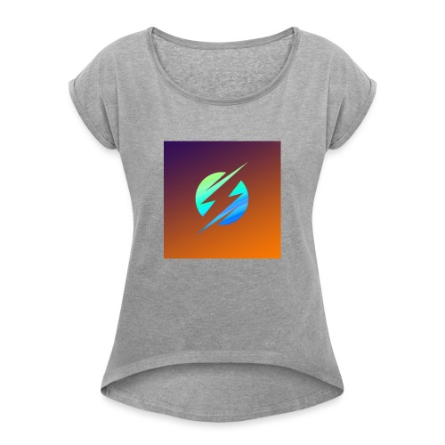 Gamer Boys Merch - Frauen T-Shirt mit gerollten Ärmeln