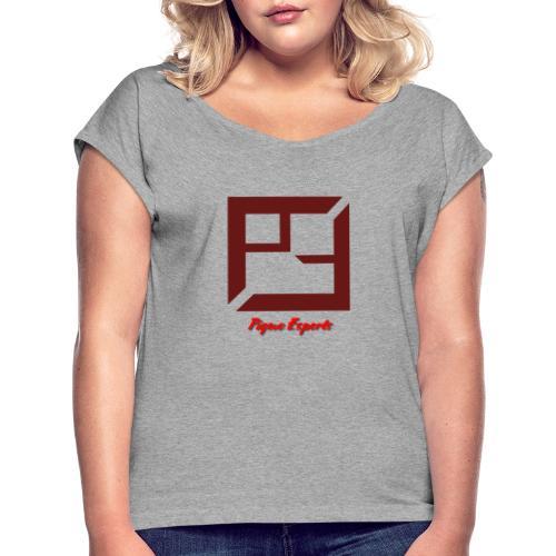 Pique E-Sports - T-skjorte med rulleermer for kvinner