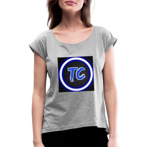 D1A9B4F9 7F32 479F 9B45 AD6D7A6DD027 - T-skjorte med rulleermer for kvinner