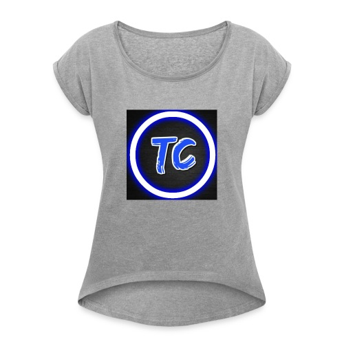 toxy clan - T-skjorte med rulleermer for kvinner