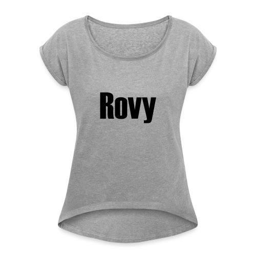 Rovy - Vrouwen T-shirt met opgerolde mouwen