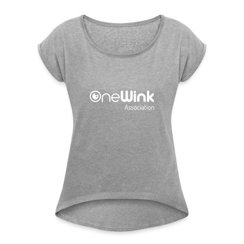 OneWink Association - T-shirt à manches retroussées Femme