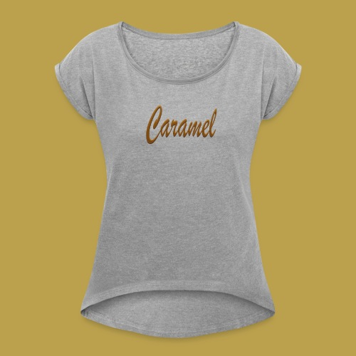 Untitled 5 png - Women's T-Shirt with rolled up sleeves