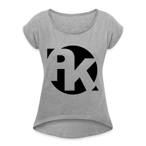 PK Logo 2 - Frauen T-Shirt mit gerollten Ärmeln