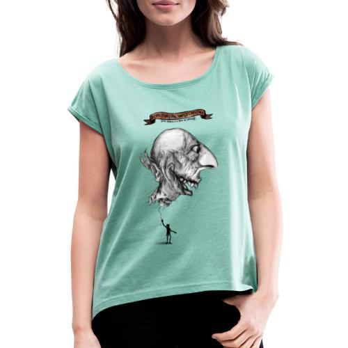 LEFIMI T-SHIRT - Maglietta da donna con risvolti