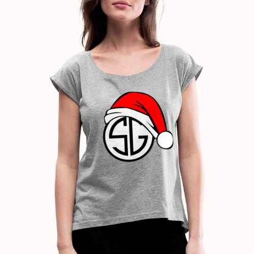 SemGamer Kerst Merch - Vrouwen T-shirt met opgerolde mouwen