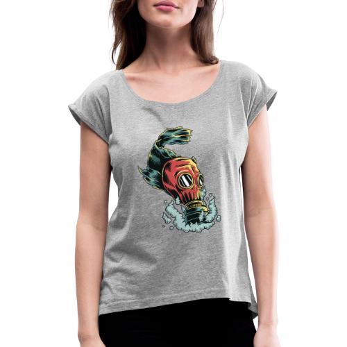 toxique - T-shirt à manches retroussées Femme