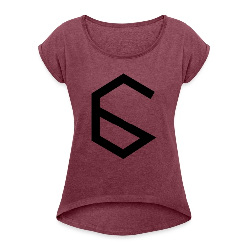 6 - Women's T-Shirt with rolled up sleeves