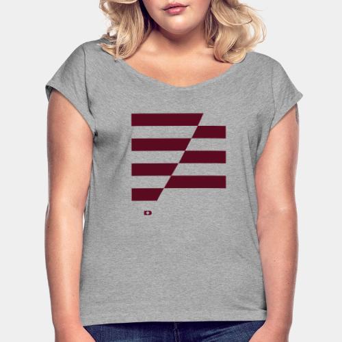 A-148 Zebra stripes - Frauen T-Shirt mit gerollten Ärmeln