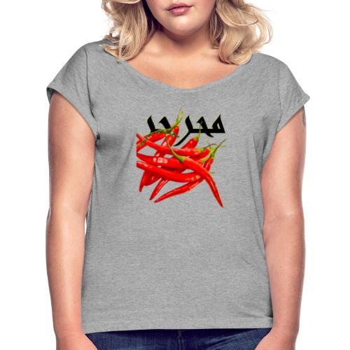 Le paradoxe pimenté - T-shirt à manches retroussées Femme