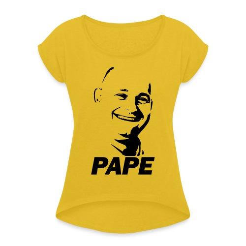 PAPE - Dame T-shirt med rulleærmer