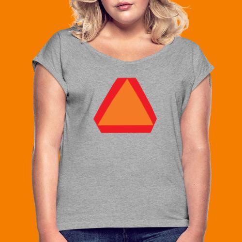 Långsamt gående - T-shirt med upprullade ärmar dam